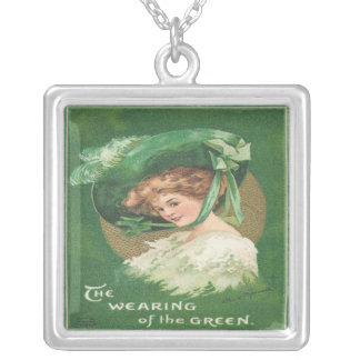 St. Patrick's Day Lady Sterling Silver Necklace