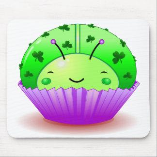 St. Patrick's Day Ladybug Cupcake Mousepad