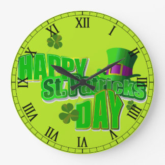 St. Patrick's Day Large Clock