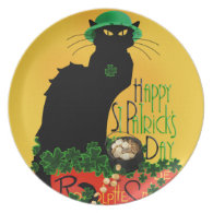 St Patrick's Day - Le Lucky Chat Plate