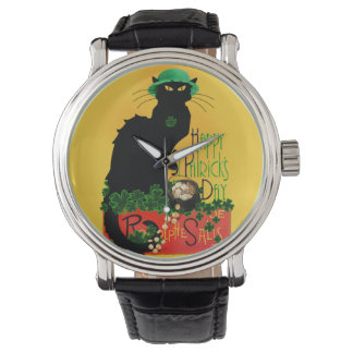 St Patrick's Day - Le Lucky Chat Wrist Watch