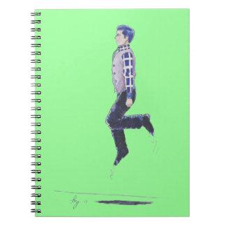 St. Patrick's Day Leaping Irish Jig Cartoon Notebook