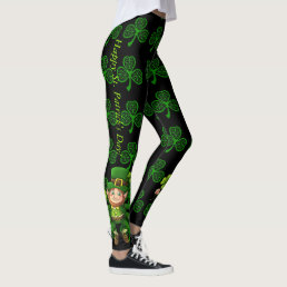St Patrick's Day Leggings Saint Patrick Pants