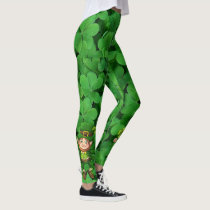 St Patrick's Day Leggings Saint Patrick Pants St.