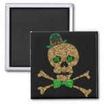 St. Patrick's Day Leopard Skull Fridge Magnets