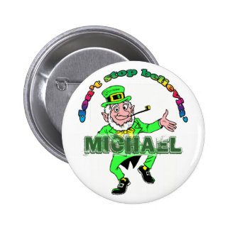 St. Patrick's Day Leprechaun Don't Stop Believing Button