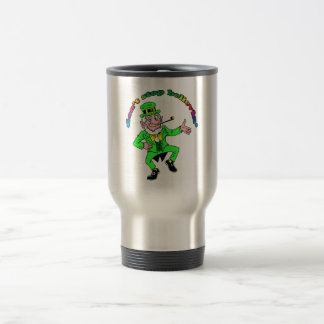 St. Patrick's Day Leprechaun Don't Stop Believing Travel Mug