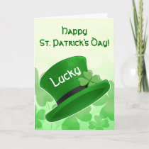 St Patricks Day leprechaun hat Card