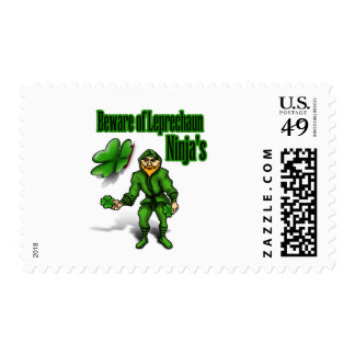 St. Patrick's Day, leprechaun ninja Postage