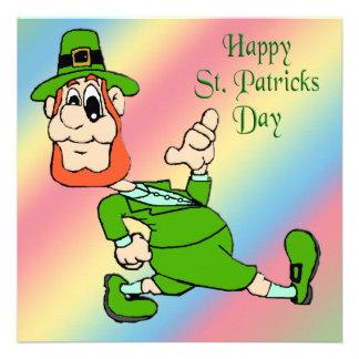 St. Patrick's Day Leprechaun Party Invitation