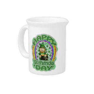 St Patricks Day Leprechaun Beverage Pitcher