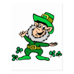 St. Patricks Day Leprechaun Postcard
