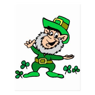 St. Patricks Day Leprechaun Postcard
