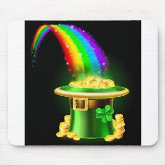 St Patricks Day Leprechaun Rainbow Hat of Gold Mouse Pad