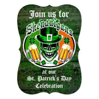St. Patrick's Day Leprechaun Skull: Shenanigans Card