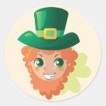 St. Patrick's Day Leprechaun Stickers