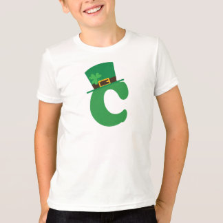 St Patricks Day Letter C Alphabet T-Shirt