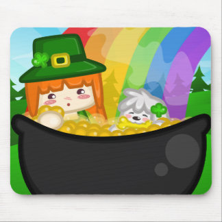 St. Patrick's Day: Libbi and Suki Mousepad