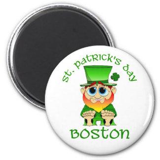 St Patricks Day ~ Lil Blarney Boston 2 Inch Round Magnet