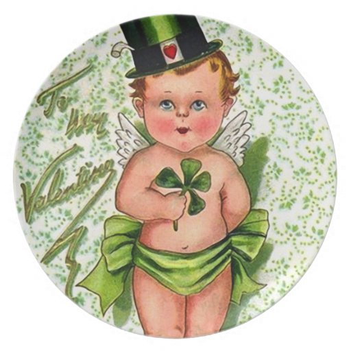 St.Patrick's Day: Little Cupid Dinner Plate