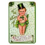 St.Patrick's Day: Little Cupid Rectangular Magnet