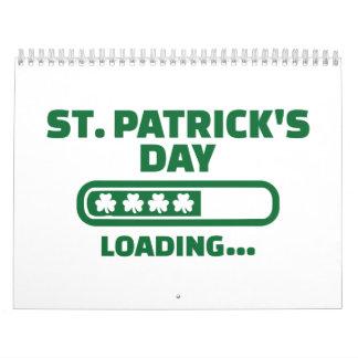 St. Patrick's day loading Calendar