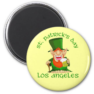 St Patricks Day ~ Los Angeles 2 Inch Round Magnet