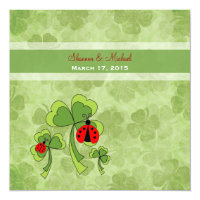 St. Patrick&#39;s Day Love Bug Wedding Invitation (<em>$2.31</em>)