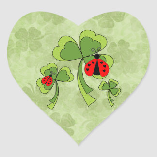 St. Patrick's Day Love Bugs Wedding Stickers