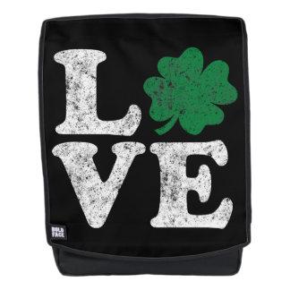 St Patrick's Day LOVE Shamrock Irish Backpack