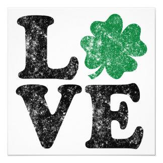 St Patrick's Day LOVE Shamrock Irish Card