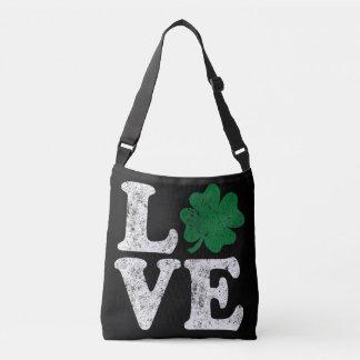 St Patrick's Day LOVE Shamrock Irish Crossbody Bag