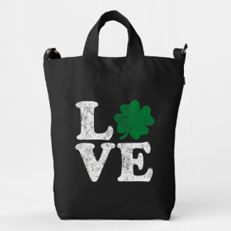 St Patrick's Day LOVE Shamrock Irish Duck Bag