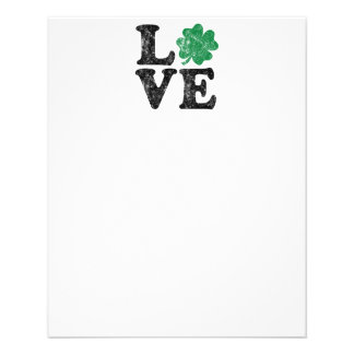 St Patrick's Day LOVE Shamrock Irish Flyer