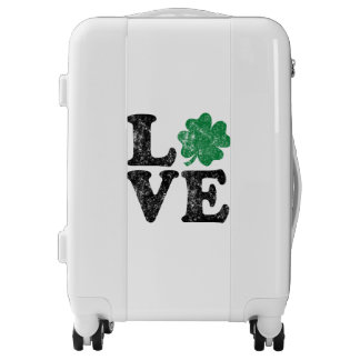 St Patrick's Day LOVE Shamrock Irish Luggage