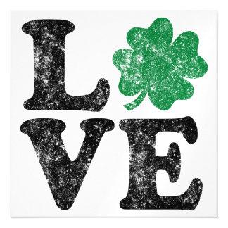 St Patrick's Day LOVE Shamrock Irish Magnetic Card