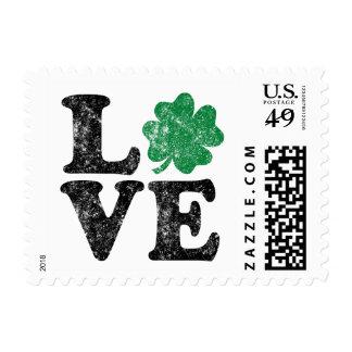 St Patrick's Day LOVE Shamrock Irish Postage