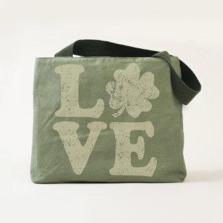 St Patrick's Day LOVE Shamrock Irish Tote