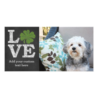 St Patricks Day LOVE with shamrock Card