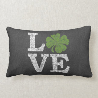 St Patricks Day LOVE with shamrock Pillows