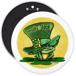 St Patricks day - Luck o the Green Button
