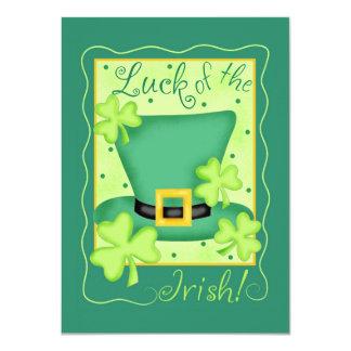 "St. Patrick's Day Luck of the Irish Invitation 4.5"" X 6.25"" Invitation Card"
