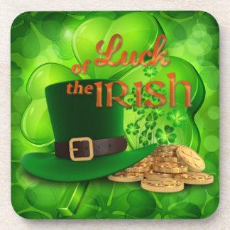 "St. Patrick's Day ""Luck of the Irish"" Shamrock Coaster"