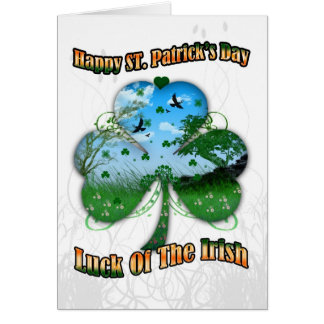 St. Patrick's Day, Luck Of The Irish View Inside S Card