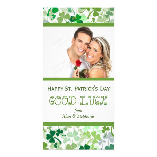St. Patrick's Day Luck Vertical Photo Cards