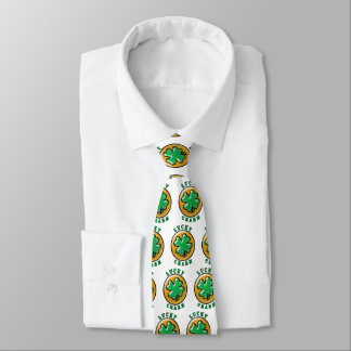 St. Patrick's Day Lucky Charm 4 Leaf Clover Neck Tie