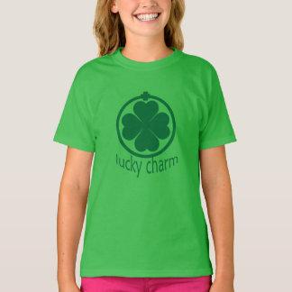 St. Patricks Day Lucky Charm Clover Girls T-Shirt