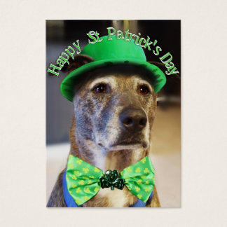 St Patrick's Day Lucky Dog Business Card