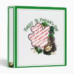 St Patrick's Day Lucky Meerkat Shamrock Frame Binder