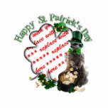 St Patrick's Day Lucky Meerkat Shamrock Frame Photo Sculpture